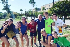 Atletas del Club de Atletismo en Palma de Mallorca